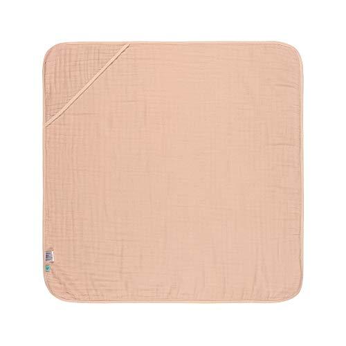 LÄSSIG Kinder Kapuzenhandtuch Baumwolle 90 x 90 cm/Hooded Towel light pink