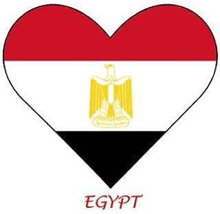 Egipto - bandera en forma de corazón - 6 unidades de hierro en transferencias para Blanco/luz de algodón: Amazon.es: Hogar
