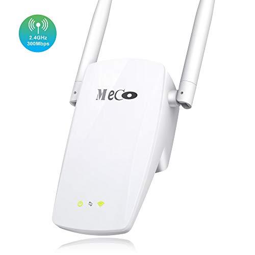 MECO ELEVERDE WLAN Repeater, WLAN Verstärker(300 Mbit/s, mit AP-Modus/Repeater-Modus/Router-Modus) WLAN Booster/WLAN Router WLAN Range ExtenderEinfaches Setup und nahtloses Roaming -Weiß