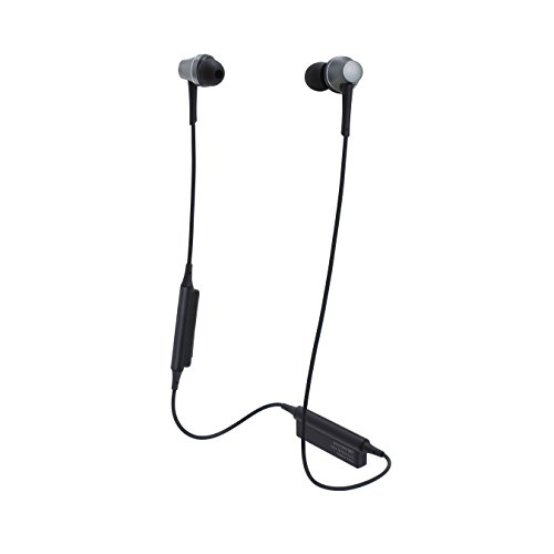 Audio-Technica ATH-CKR75BT Sound Reality Bluetooth Wireless In-Ear Headphones with In-Line Mic & Control, Gun Metal