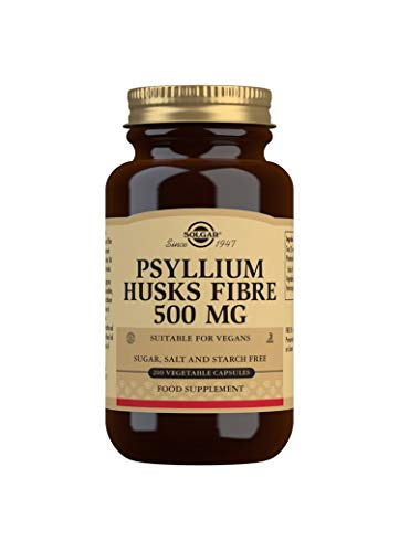 Solgar Psyllium Husks Fibre 500 mg Vegetable Capsules - Pack of 200