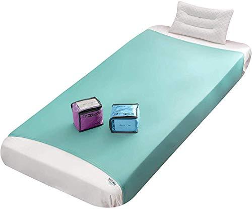 Snoozzzy Sensory Kompressionslaken für Kinder & Erwachsene - Beste Alternative zu gewichteten Decken (einzeln, Grün)