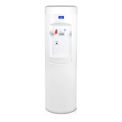 Product Image of the White BottleLess Water Purification Cooler with 1,500-Gallon capacity water filtration and installation kit. From BottleLess Direct (Model: BDX1-WK). Dispenses Hot & Cold water. (Also available in black)