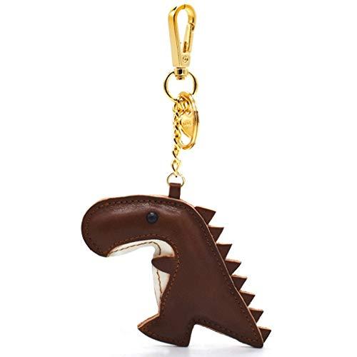 Hecho a Mano de Cuero de Vaca Dinosaurio llaveros, for el Hombre...