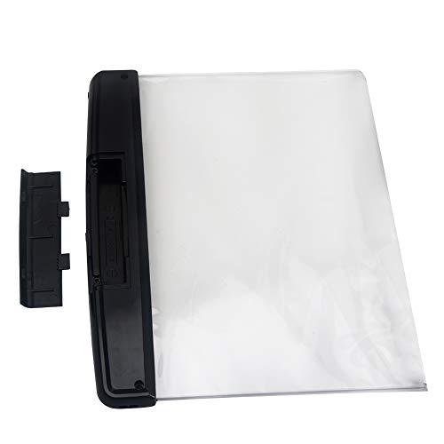 Luz LED de libro de tapa blanda, luz LED de noche, protección de los ojos, luz de lectura con clip de páginas desmontables, ojos de cuña para proteger las luces para cama lectura nocturna