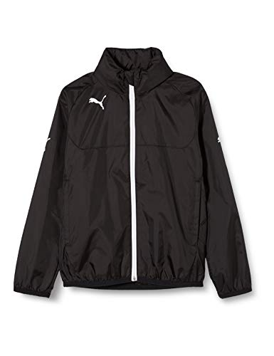 PUMA Kinder Jacke Rain Jacket, Black/White, 140