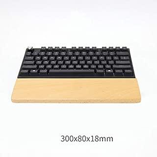 Sunny Hill Wooden Mechanical Keyboard Wrist Rest Pad Wrist Support Hand Pad for Mechanical Keyboard Wrist Pad Palm Rest (Beech, 60-Key)