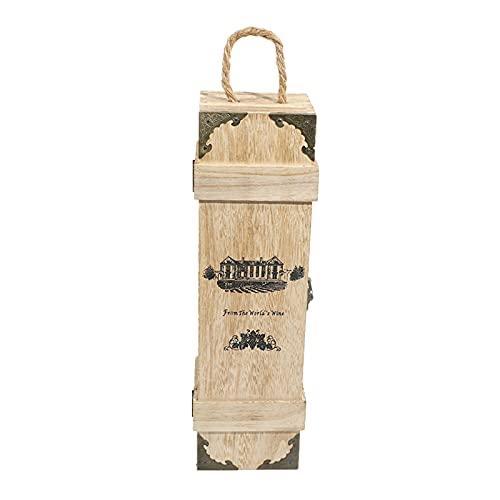 Caja De Vino Caja De Embalaje De Madera Para La Botella De Vino Tinto O Al Almacenamiento De Envoltura De Regalo De Flauta De Champa?a 35 * 10 * 10 Cm Para Vino, Champán O Whisky, Vino NO Incluido