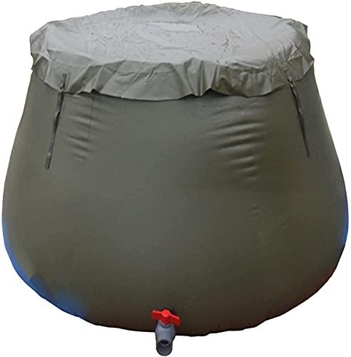 WXking Cubo de gran capacidad plegable, cubo de colección de agua de lluvia plegable al aire libre, bolsa de agua suave de PVC con interruptor de salida de agua, adecuado para irrigación de jardín y e