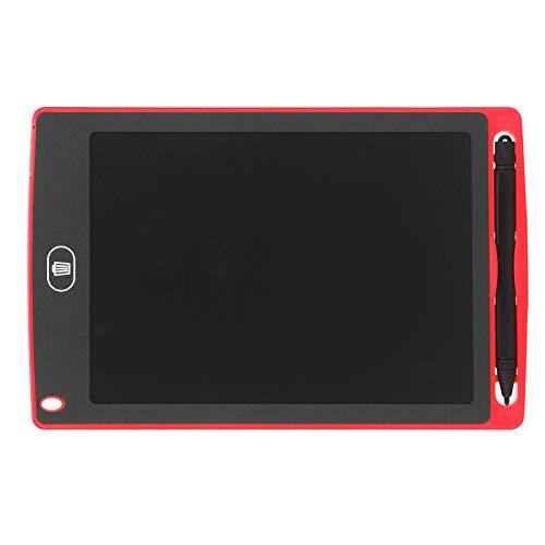 Tableta de Escritura LCD Tablero de Doodle Tablero de Escritura Tablero de Dibujo de 8.5in Tableros de Dibujo para niños Oficina para niños Juguete de Regalo Escuela en casa(Red)