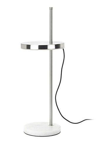 Mathias 3475012 LAMPE PLAK LED ACIER BROSSE D16,6 H47, Métal, Intégré, 6 W, D16,6-H47 cm
