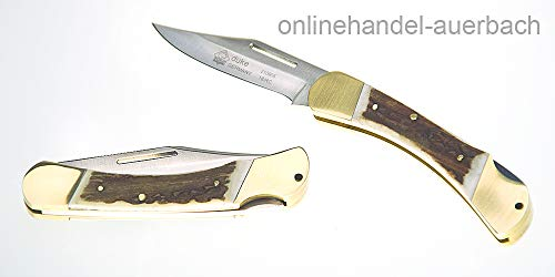 Jagd-Taschenmesser Puma Duke, Stahl 1.4110, Hirschhorn-Griff