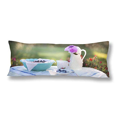 CiCiDi Body Pillow Case 5ft(50cm X 150cm) Blueberries Custom Soft Cotton Machine Washable with Zippers Maternity/Pregnancy Pillow Cover