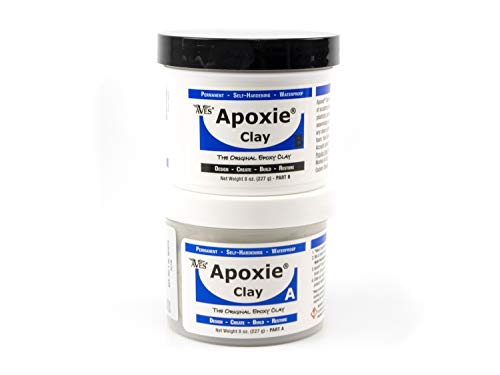 Aves Apoxie Air Dry Clay for Professionals - Self Hardening Modeling Clay, Waterproof Sculpting Clay Made for Detail - No Cracking Modeling Clay - 2 Part Epoxy Clay for Sculpting, White (1 Lb)