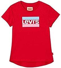 Camiseta Levi's Kids Marble Rojo de Manga Corta para Niña
