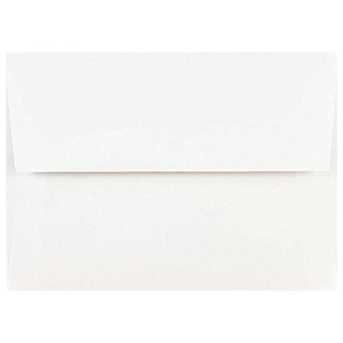 JAM PAPER A7 Invitation Envelopes - 5 1/4 x 7 1/4 - White - 25/Pack