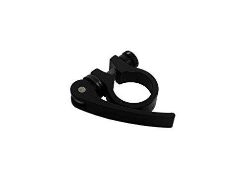 Aluminium Schnellspanner Fahrrad Sattelstützen Klemmring 28,6 mm Schelle schwarz