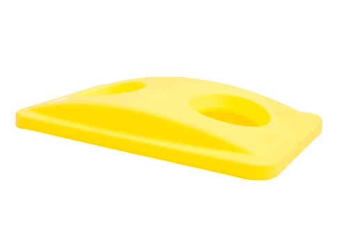 Rubbermaid Commercial Products Slim Jim Bottle and Can Recycling Lid - Yellow