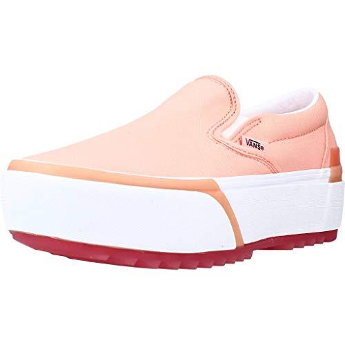 Vans Calzado Deportivo Mujer UA Classic Slip-ON Stack para Mujer Rosa 38.5 EU