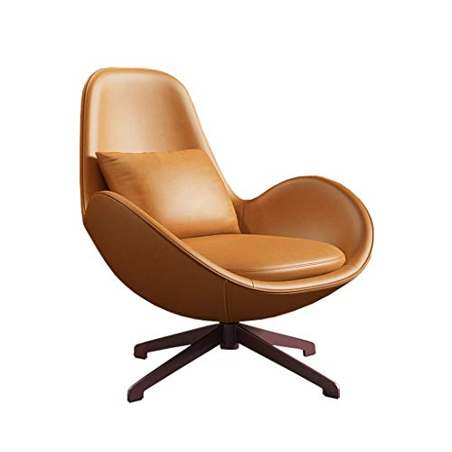 XinQing-Lazy Sofa 360 Degree Rotating Sofa Chair, Single Sofa Modern Leather Lazy Chair, Revolving Egg Chair for Leisure Living Room