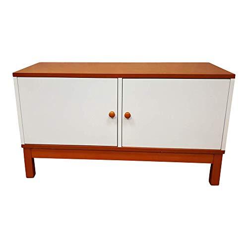 dasmöbelwerk Retro Design Möbel weiß Kommode Sideboard Schrank mit 2 Türen 480601