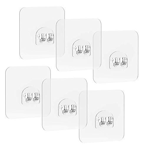 Avoalre Adhesivo para Estantes de Ducha Baño Cocina, 8 * 8CM, 6 Unidades