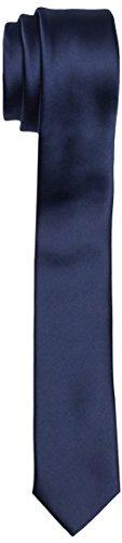 BlueBlack Herren schmale Krawatte Pietro, Einfarbig, Gr. One size, Blau (dunkelblau 19)