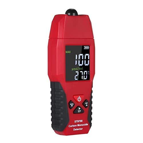 LILIS Carbon Monoxide Meter 2 in 1 CO Gasmelder Temperaturzähler Kohlenmonoxidanalysator Luftqualitätsmonitor Gas Leckanalysatoren LCD-Farbanzeige