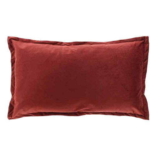 LEMETEX Kissen Kalie rot Holz 40 x 60 cm 1 Stück