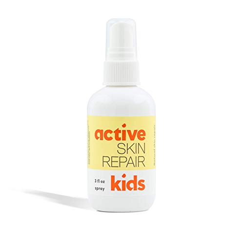 Kids Active Skin Repair Spray – The Safe, Non-Toxic & Natural Kids First Aid Spray for Minor Cuts, Wounds, Scrapes, Rashes, Sunburns, Skin Irritations, and More. No-Sting (3 oz Spray)