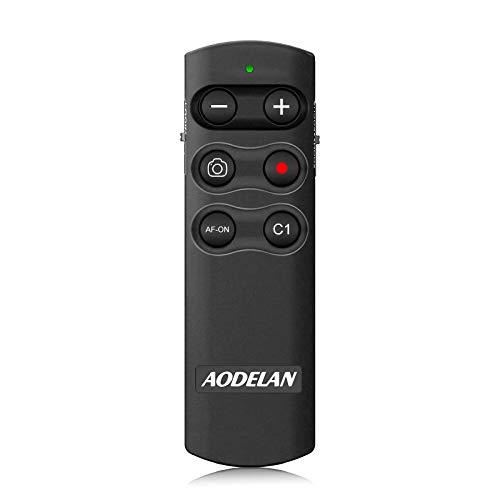 AODELAN - Telecomando a distanza per fotocamera Sony a6100, a6400, a6600, a7c, a7 III, a7R III, a7R IV, a9, a9 II, DSC-RX0 II, DSC-RX100 VII, ZV-1; sostituisce Sony RMT-P1BT