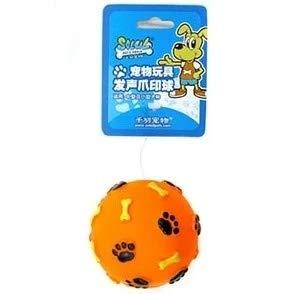 Hypeety Chien Squeak Chew Jouet interactif Balle Mastication Durable Latex Balles Jouets pour Petit Medium dent de Chiens de Grande Taille Chewing Jouer de Nettoyage (1 pièce Couleur aléatoire)