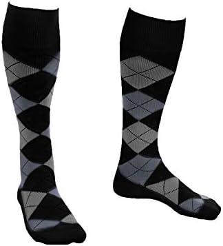 EvoNation Men Women Argyle Knee High Graduated Compression Socks 15 20 mmHg Moderate Pressure product image