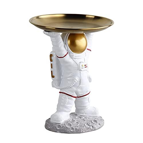 Bandeja decorativa Placa de llave para la mesa de entrada, entrada de la entrada de la entrada de la entrada de astronauta, decoración de escritorio, sala de estar de mesa de café Luz de lujo Spaceman