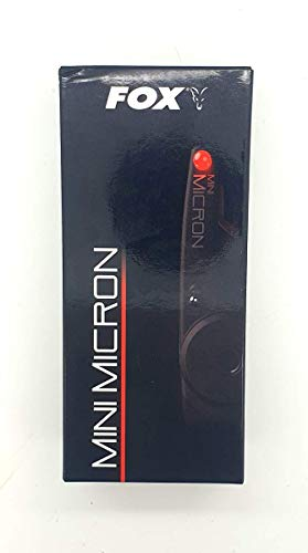 FOX Mini Micron Alarme de la Carpe Contrôle de la Sensibilité del Volumen 2 LED Alta Visibilidad