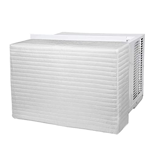 Daisypower Indoor Air Conditioner Cover, 28 x 20 x 4 Inches (W x H x D) for Inside Window Unit, Double Insulation AC Cover, White