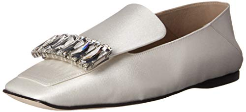 Sergio Rossi Women's SR1 Shoe, white, 39 Medium EU (36,6 US)