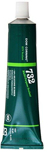 Dow Corning 3138356 732 Clear Multi-Purpose Sealant, -60 to 180 Degree C, 90 mL