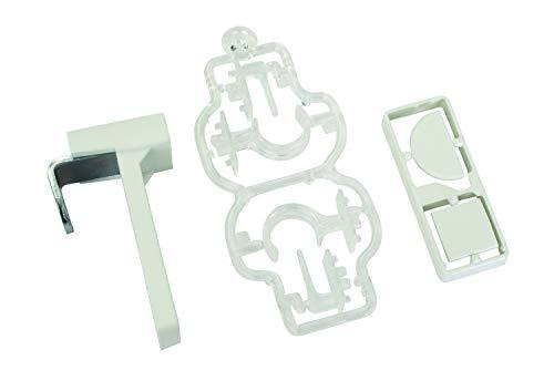 GARDINIA Klemmträger für Vitragestangen/Caféhausstangen, 2 Stück, Montage ohne Bohren und Schrauben, Metall/Kunststoff, Weiß