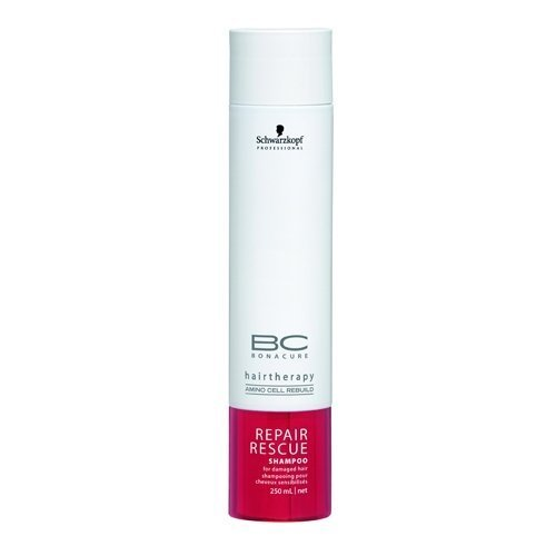 Schwarzkopf BC Bonacure Repair Rescue Shampoo for Damaged Hair 250ml/8.5oz by Schwarzkopf Professional BEAUTY (English Manual)
