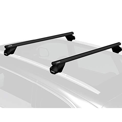 """47"""" Aluminum Universal Roof Rack Cross Bars Keyed Locks - Fit Raised Side Rails"""