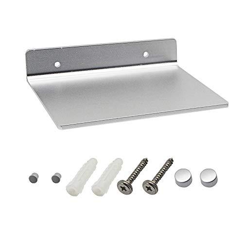 SINLOON 6 Inch Small Shelf in Flat Satin Aluminum Bathroom Shelf Wall Mount for Small Speaker Smartphone, Tablet, Toiletries