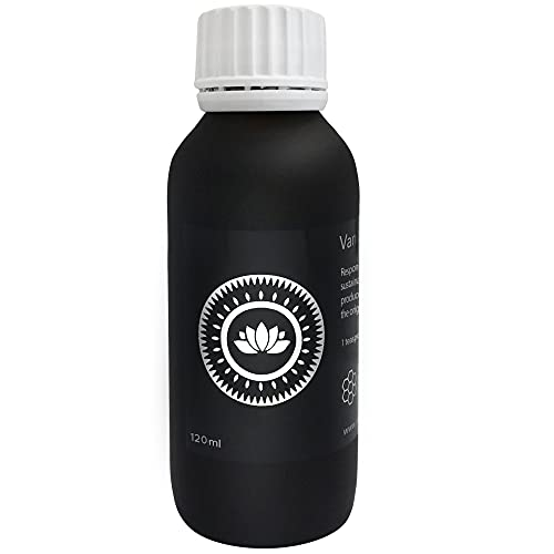 Vanilla Campaign® Vanille Extrakt, Ohne Alkohol mit Zucker, 120ml, Aus echten Vanilleschoten, naturbelassenes Aroma, vegan, fairtrade