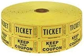 2-Rolls of Two Part Yellow Double Roll Raffle Tickets Totaling 4000-Tickets