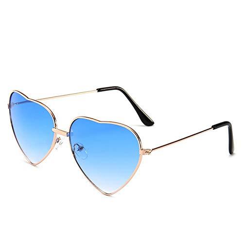 Moda Gafas De Sol Gafas De Sol En Forma De Corazón Mujeres Lentes Reflectantes De Metal Gafas De Sol Hombres Espejo C2