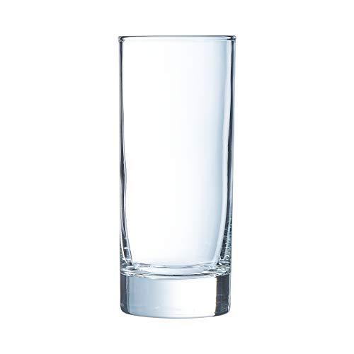 Arcoroc ARC 59776 Geo Altbierbecher, Bierstange, Bierglas, 370ml, mit Füllstrich bei 0.3l, Glas, transparent, 6 Stück