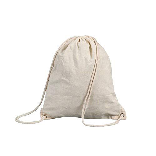Shugon Stafford - Mochila de cordones (algodón, 13 L) beige