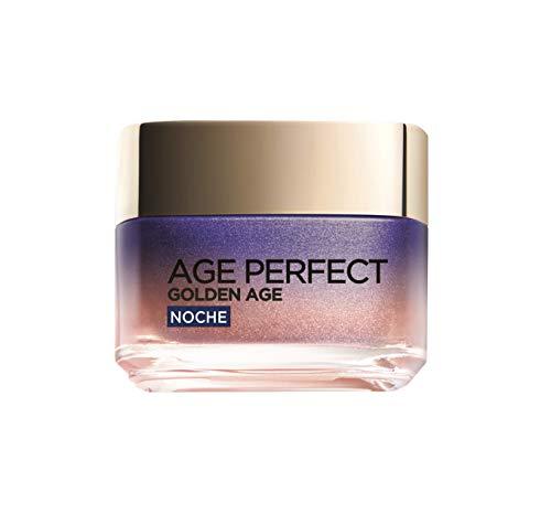 LOréal Paris Age Perfect Golden Age Crema de Noche Fortificante, Antiflacidez y Luminosidad, Pieles Maduras, 50 ml