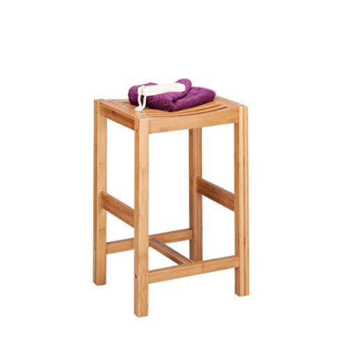 Zeller 13576 - Taburete de bambu (35 x 30 x 55 cm)