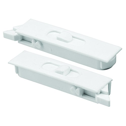 Prime-Line Products F 2749 Tilt Latch Pair, White Plastic Construction, Spring Loaded, Snap-In